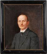 Aron, Toni(1859 Esseg/ Kroatien - 1920 Leipzig) Öl/ Lwd. Herrenporträt. Brustbild, Halbprof