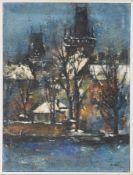 Astler, Erhard Th.(1914 Böhmisch-Leipa - 1998 Isny im Allgäu) Öl/ Lwd. Winterliches Prag.