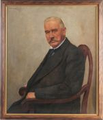 Axmacher, Carl(Düsseldorf 1874 - 1952) Öl/ Lwd. Porträt d. Friedrich Scholz. Halbfigur, im