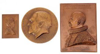 Konvolut BronzemedaillenRobert Wichmann (Deutscher Bildhauer, um 1900) 2-tlg. Bronze, patinie