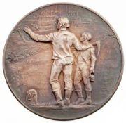 Hörnlein, Friedrich Wilhelm(1873 Suhl - 1943 Dresden) Silber, patiniert. Verdienstmedaille.