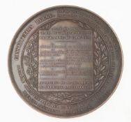 Medaille anlässlich der Gründung der liberalen Partei Belgiens 1846Bronze, patiniert. Runde