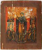 """Ikone Gottesmutter """"Freude aller Bedrängten (Leidenden)""""Eitempera auf Kreidegrund/ Holz, Sti"""