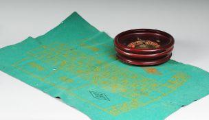 TischrouletteHolz/ Metall. Roulette mit Holzkugel und Filzspielfeld. Alters- und Gebrauchsspu