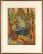 """Ewald-Weinhold, Clara(1903 Mörchingen - 1999 Hanau) Deckfarben/ langfaseriges Japanpapier. """""""
