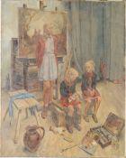 Amann, Fritz(1878 Gera - 1969 Naumburg) Öl/ Lwd. Im Atelier des Künstlers. Anfang 1940er Ja