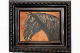 Gemälde Pferdekopf