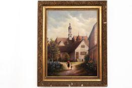 """Gemälde """"Klostergarten, in den Kartausen"""""""