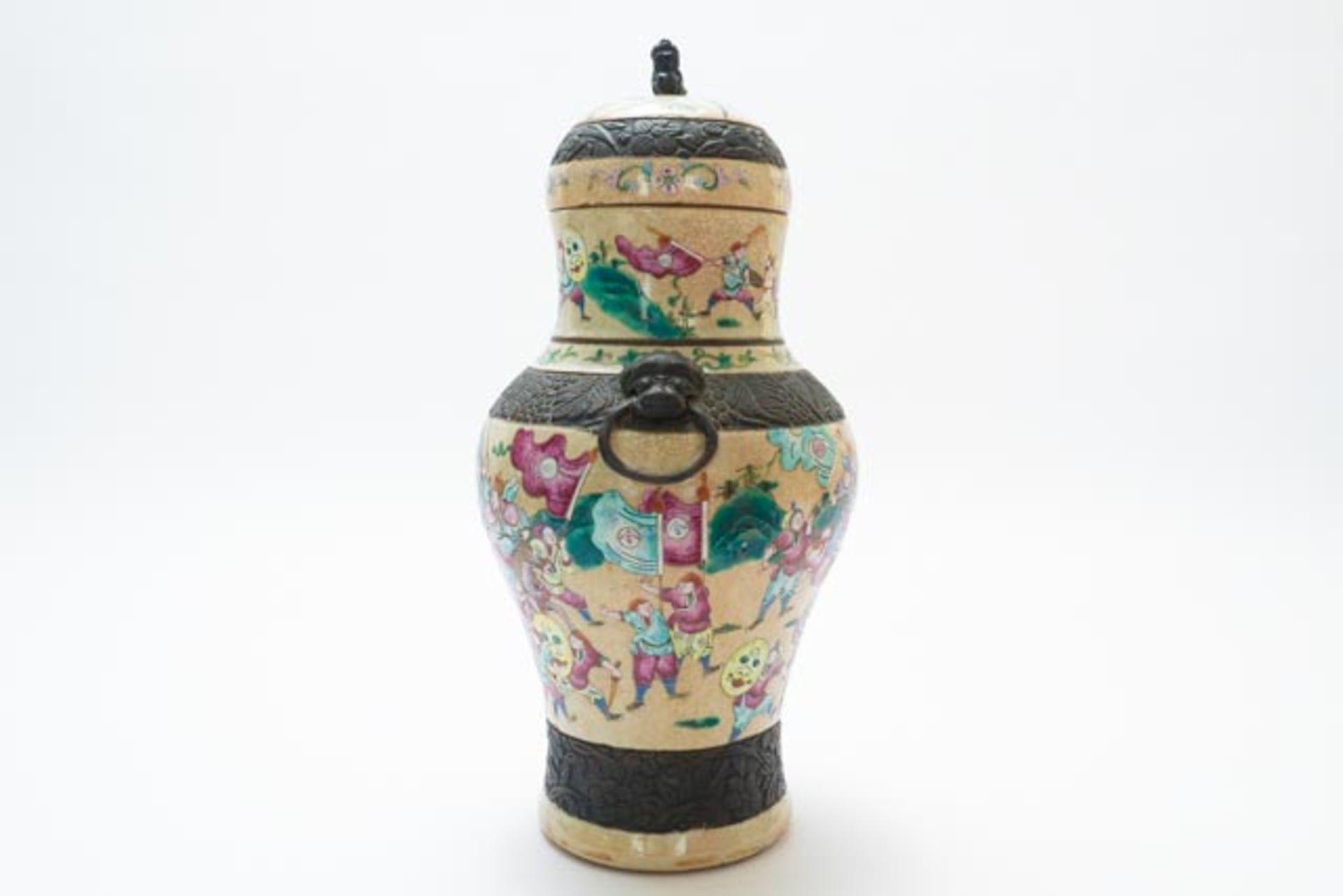 Chinesische Deckelamphore mit Schlachten - Image 2 of 13