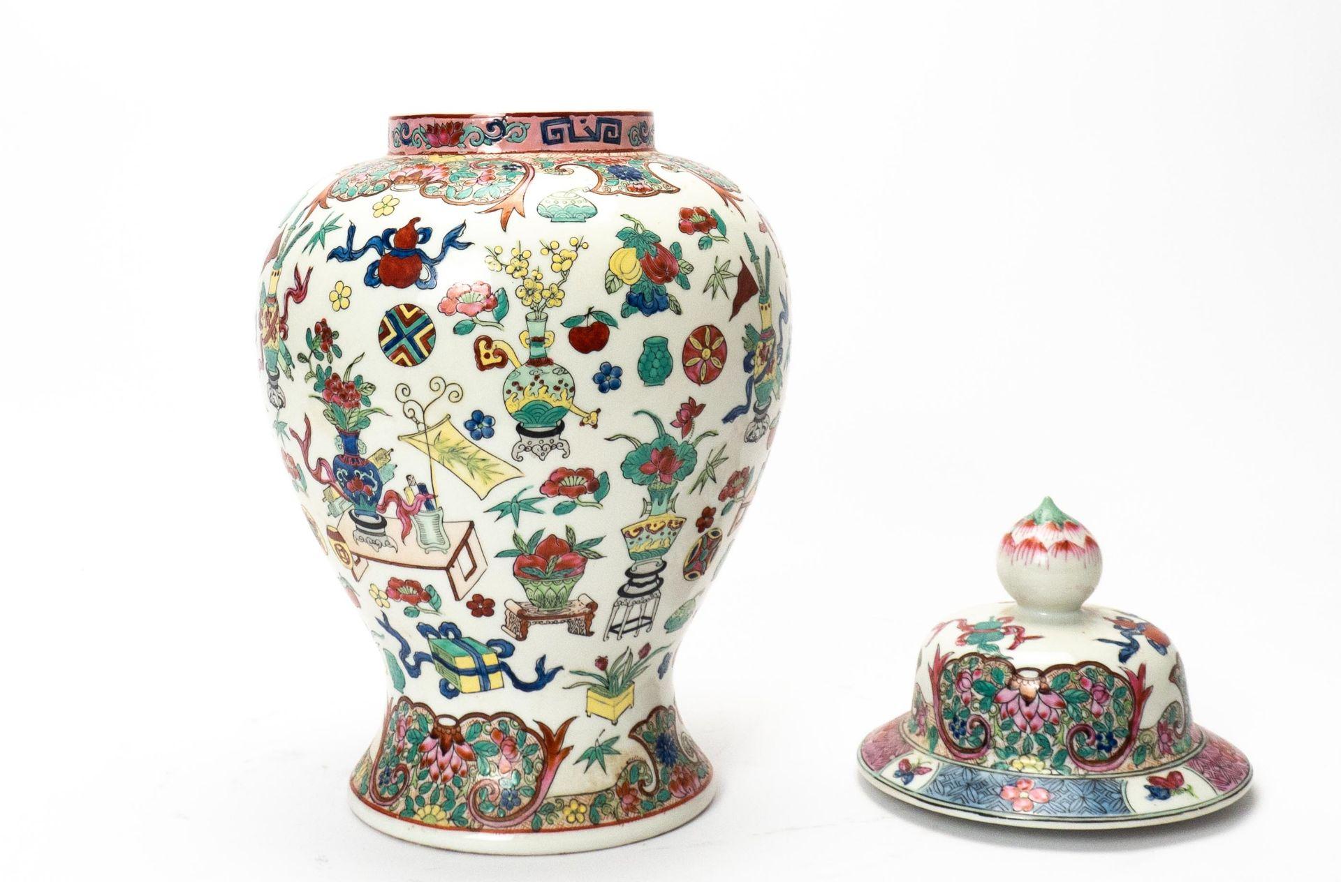 Deckelvase China - Image 2 of 5
