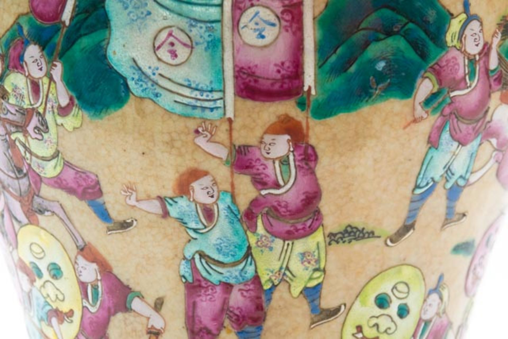 Chinesische Deckelamphore mit Schlachten - Image 11 of 13