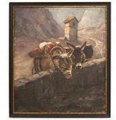 """Gemälde """"Paar Esel in den Tiroler Bergen"""""""