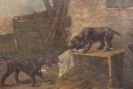 """Gemälde """"Spielende Hunde"""""""