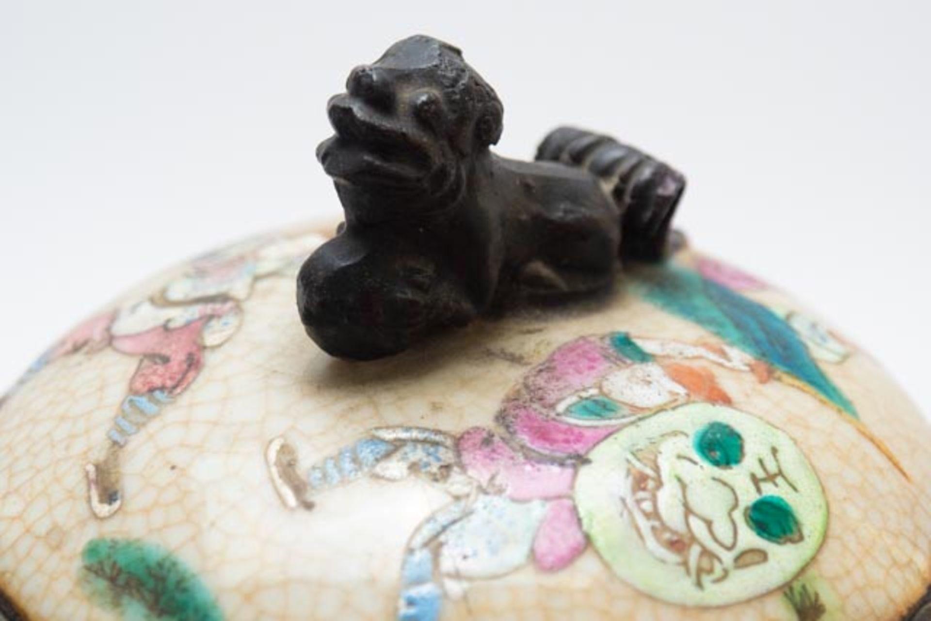 Chinesische Deckelamphore mit Schlachten - Image 13 of 13