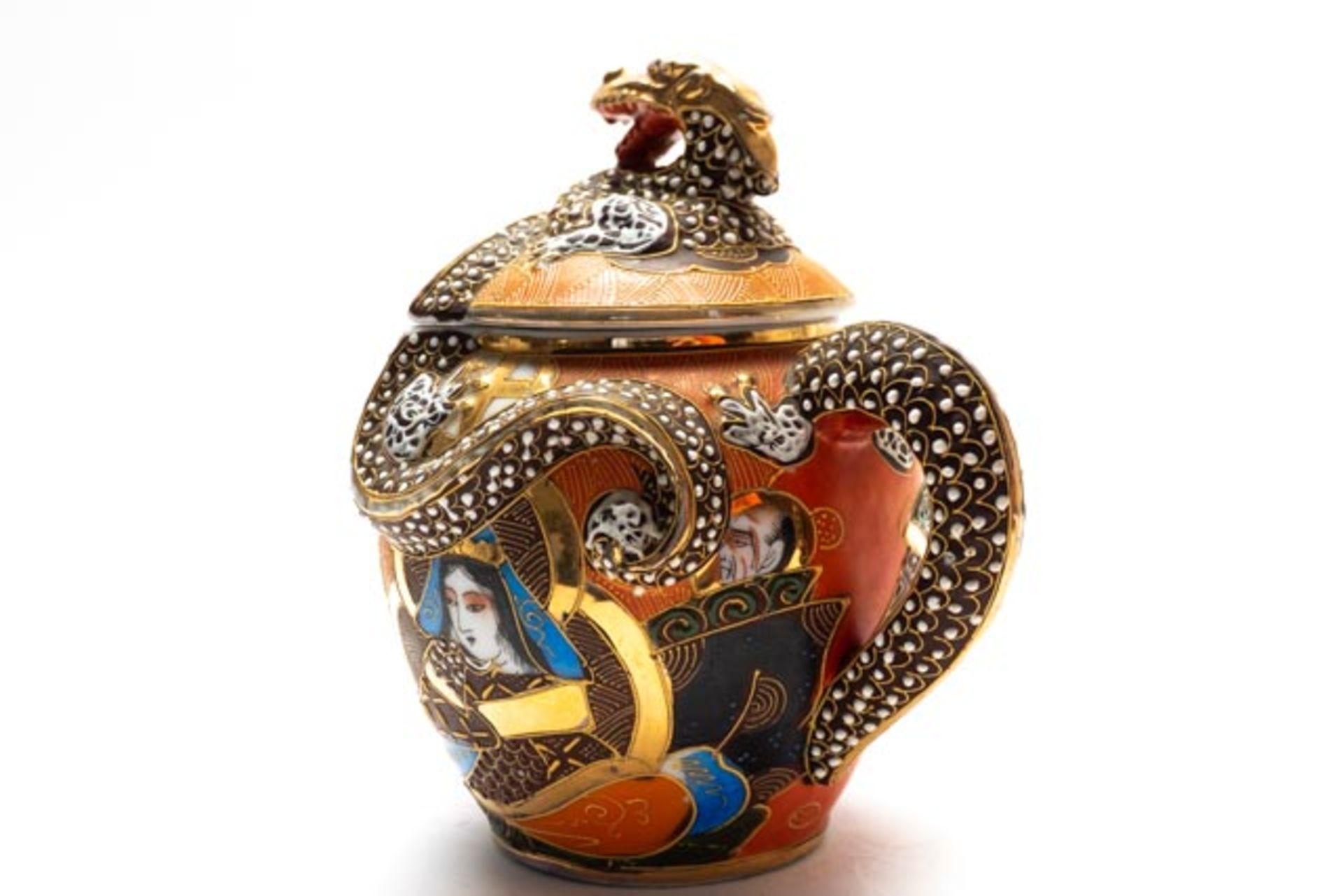 Prunkvolle asiatische Deckeldose - Image 2 of 14