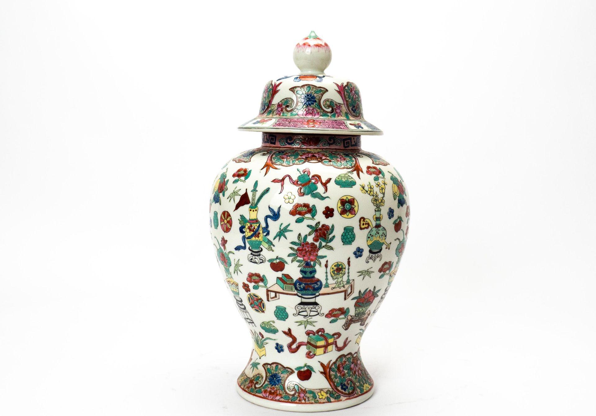 Deckelvase China - Image 3 of 5