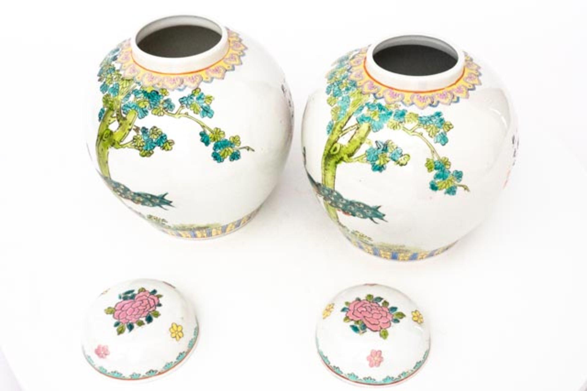 Paar chinesische Deckelvasen - Image 5 of 6