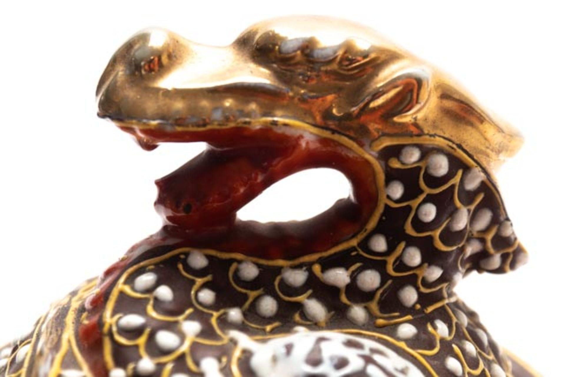 Prunkvolle asiatische Deckeldose - Image 14 of 14