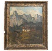 "Gemälde ""Tiroler Berghütte"""
