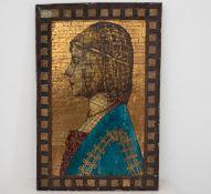 Jugendstil Mosaik Glasbild