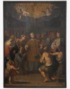 """Monumentales Altargemälde """" Verteilung von Geld/Almosen"""""""