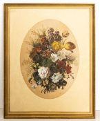 Feinst gemaltes Blumenstillleben