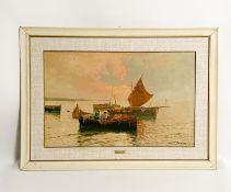 """Gemälde """"Italienische Landschaft mit Schiffen"""""""