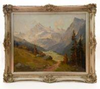 """Gemälde """"Alpenlandschaft mit Bergen"""""""