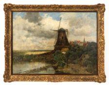 "Gemälde ""Mühle in Landschaft"""