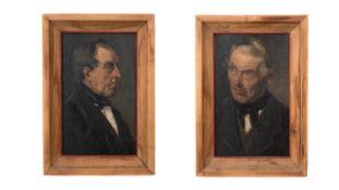 Paar Herrenportraits