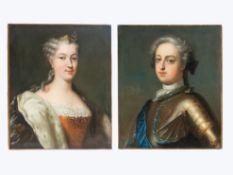 Ludwig XV. (1710 - 1774) und Maria Leszczynska (1703 - 1768)