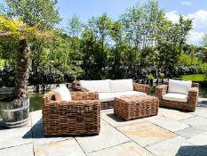 Hochwertige Lounge Möbel aus Rattan 4-teilig