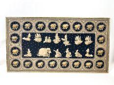 Großes altes asiatisches Stickbild