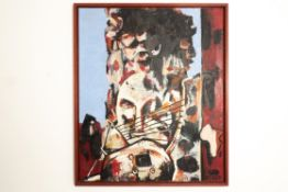 Abstraktes Gemälde bez. Afrika, sign. Kosch