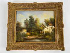 """Gemälde """"Teichlandschaft"""""""