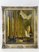 "Gemälde ""Kircheninterior"""