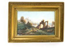 Gemälde Ruinen/Burgenlandschaft