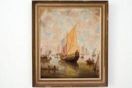 """Gemälde """"Schiffe auf dem Meer"""""""