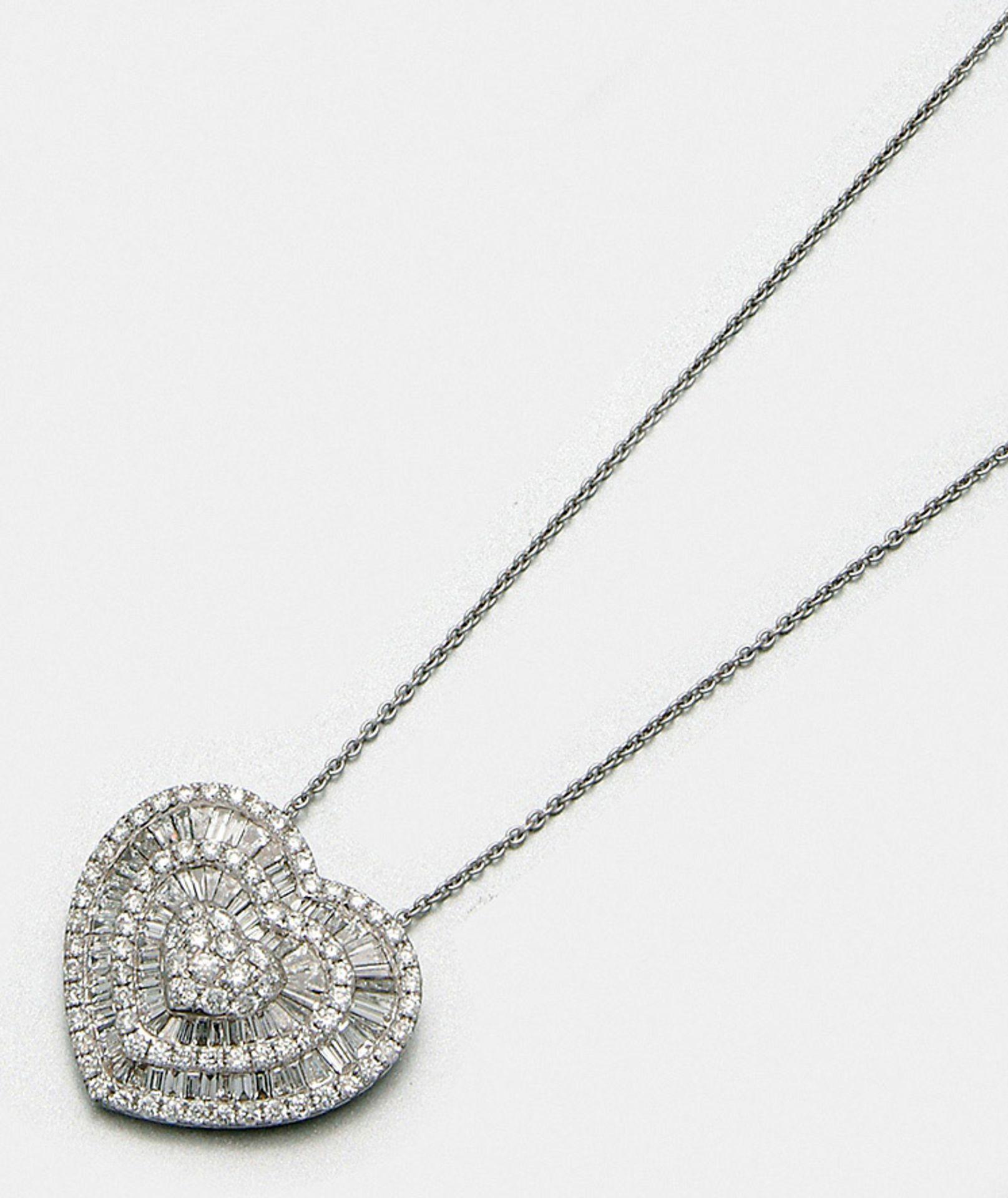 Hochfeiner Diamant-Herzanhänger