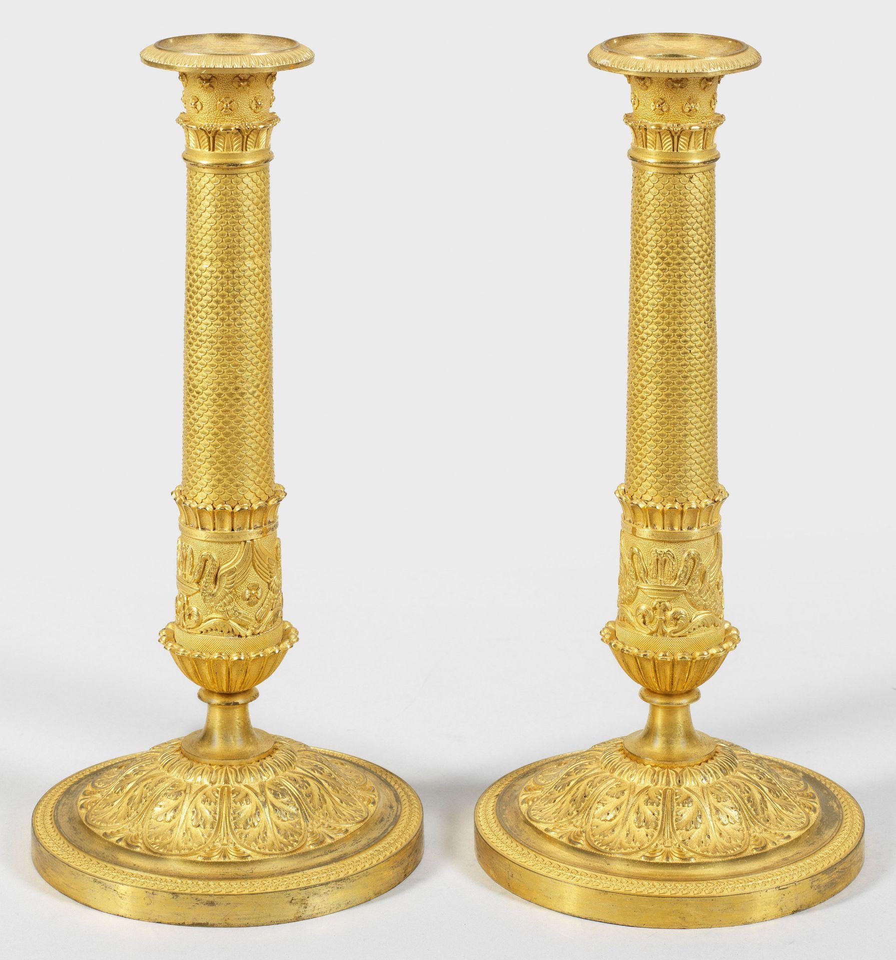 Paar feine Empire-Kerzenleuchter