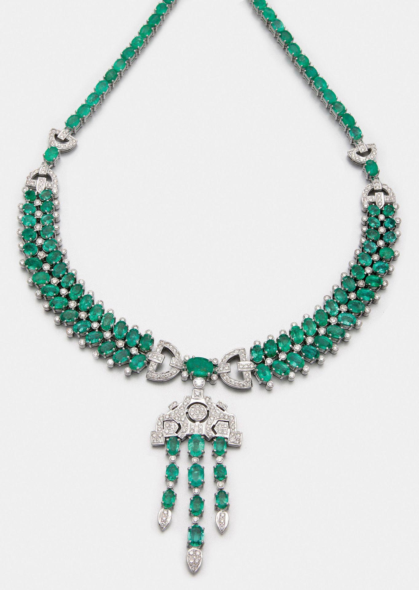 Glamouröses Smaragd-Collier