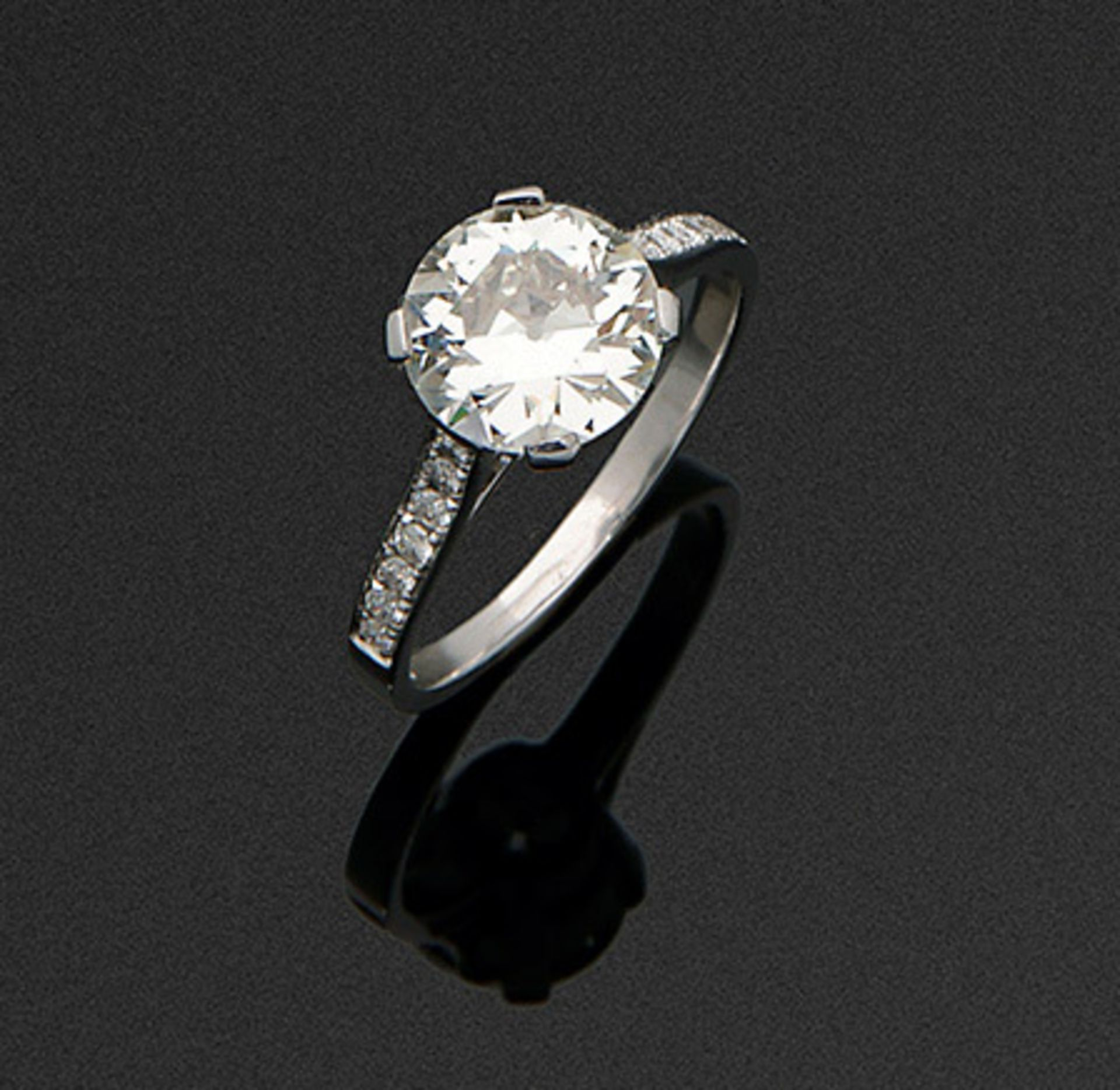 Art Déco-Diamant-Solitärring