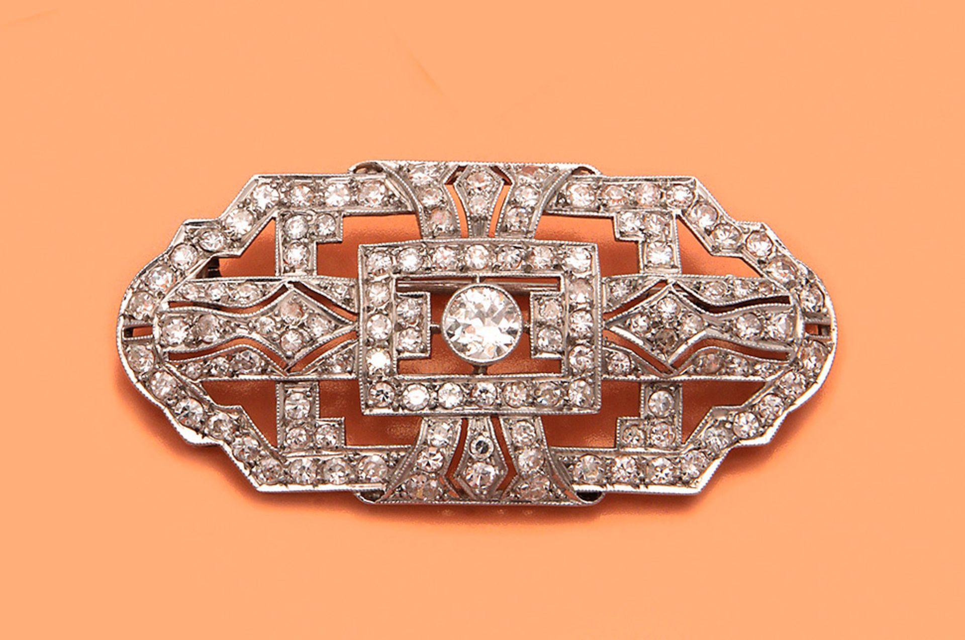 Art Déco-Brosche mit Diamanten