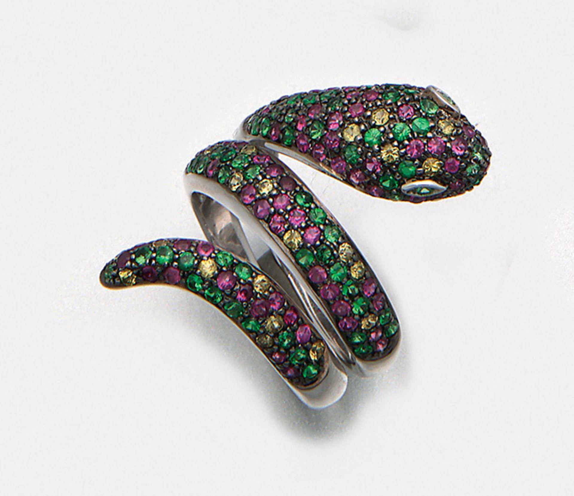 Dekorativer Multicolor-Schlangenring