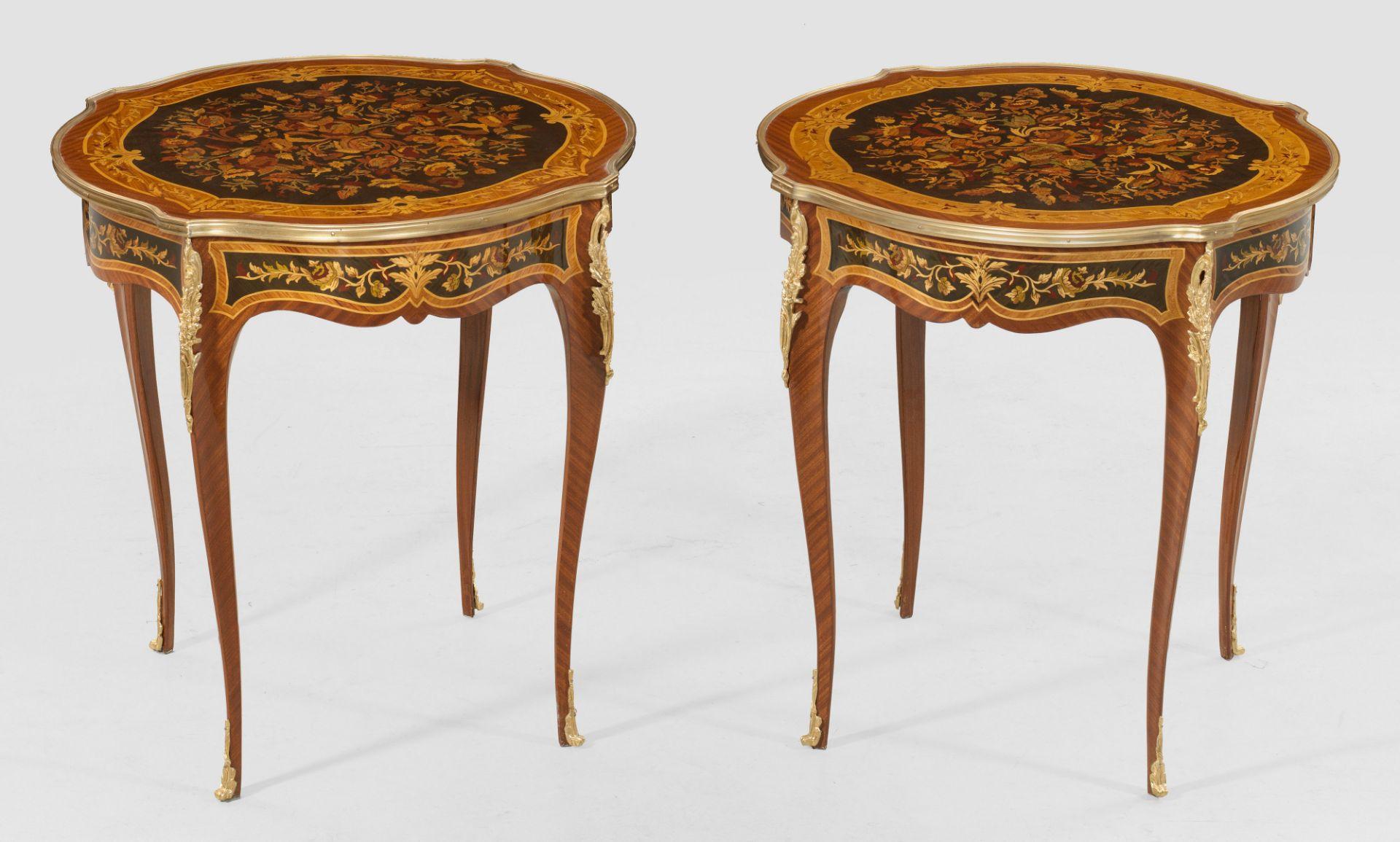 Paar Salontische im Louis XV-Stil
