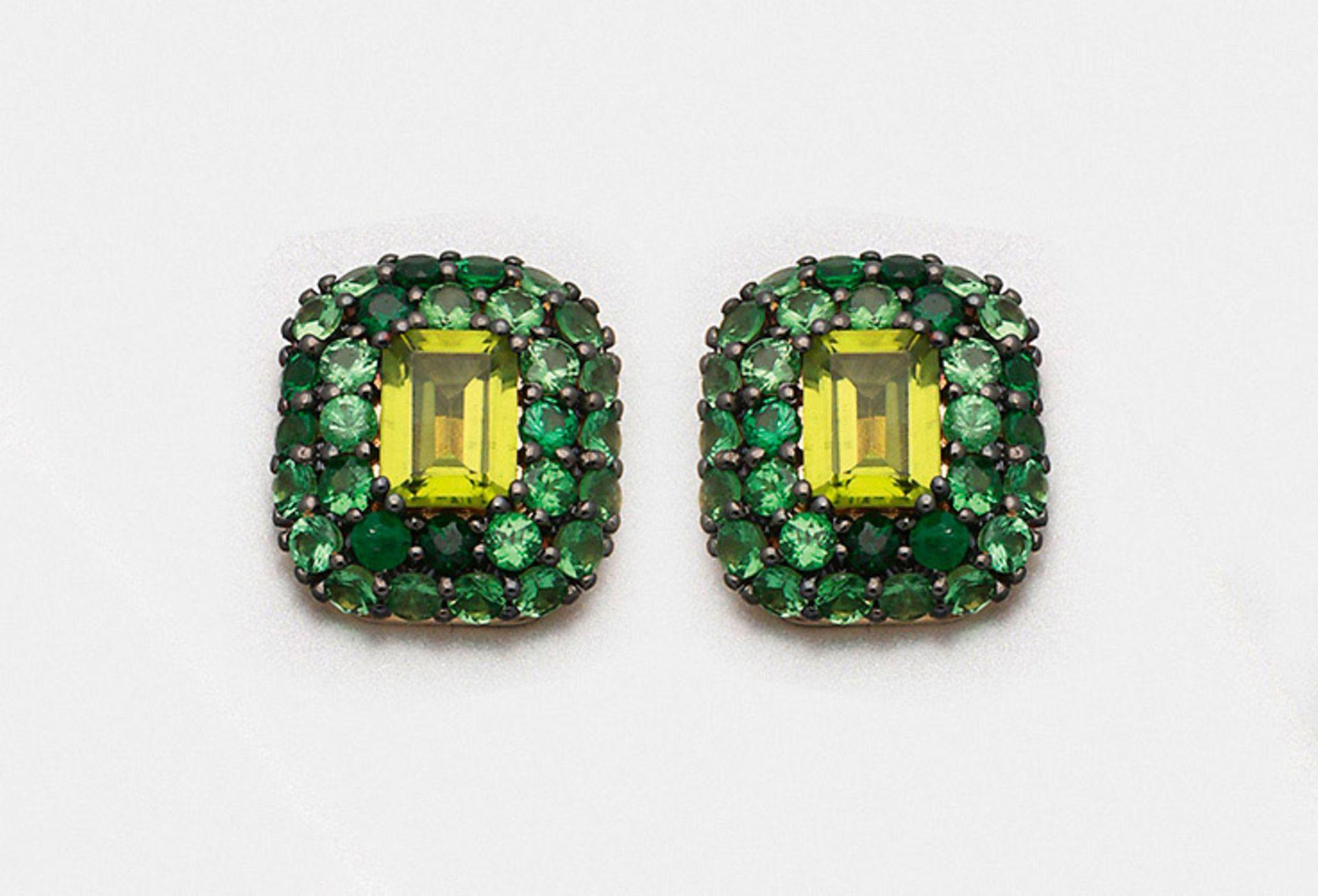 Paar dekorative Peridot-Ohrringe