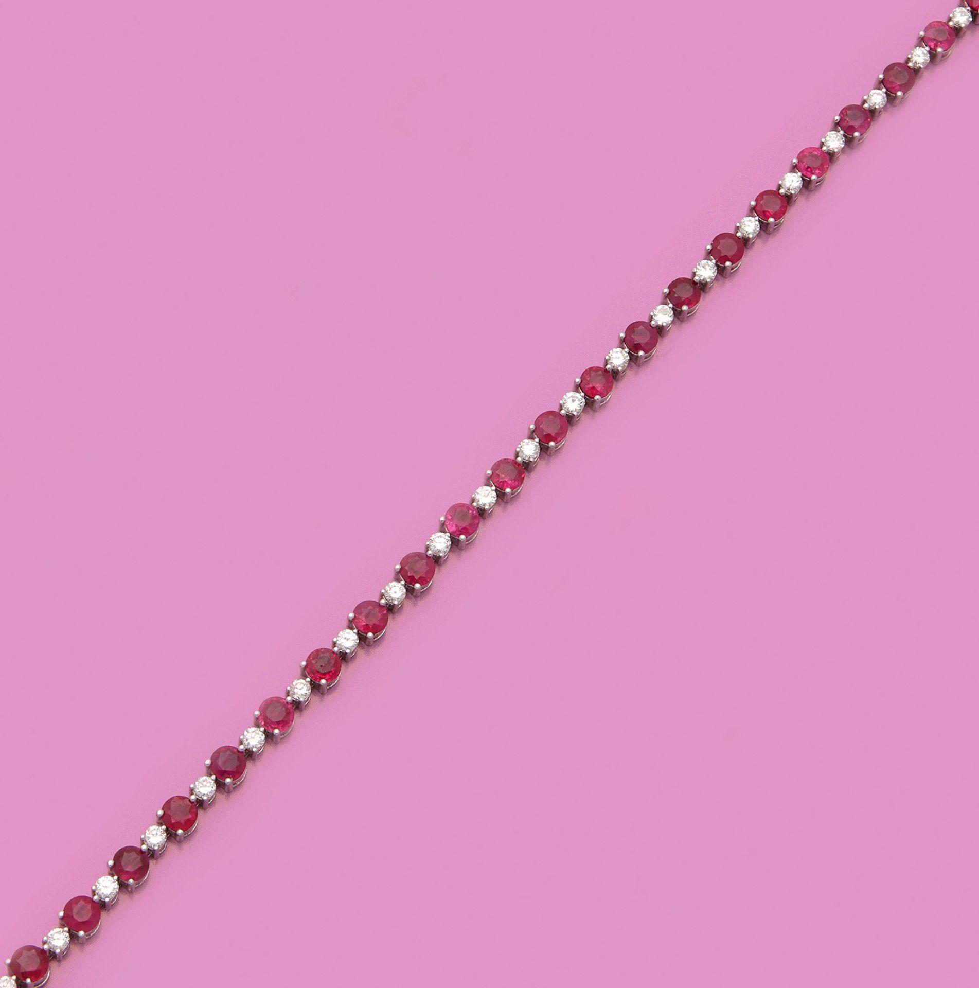 Hochfeines Rubin-Diamant-Armband