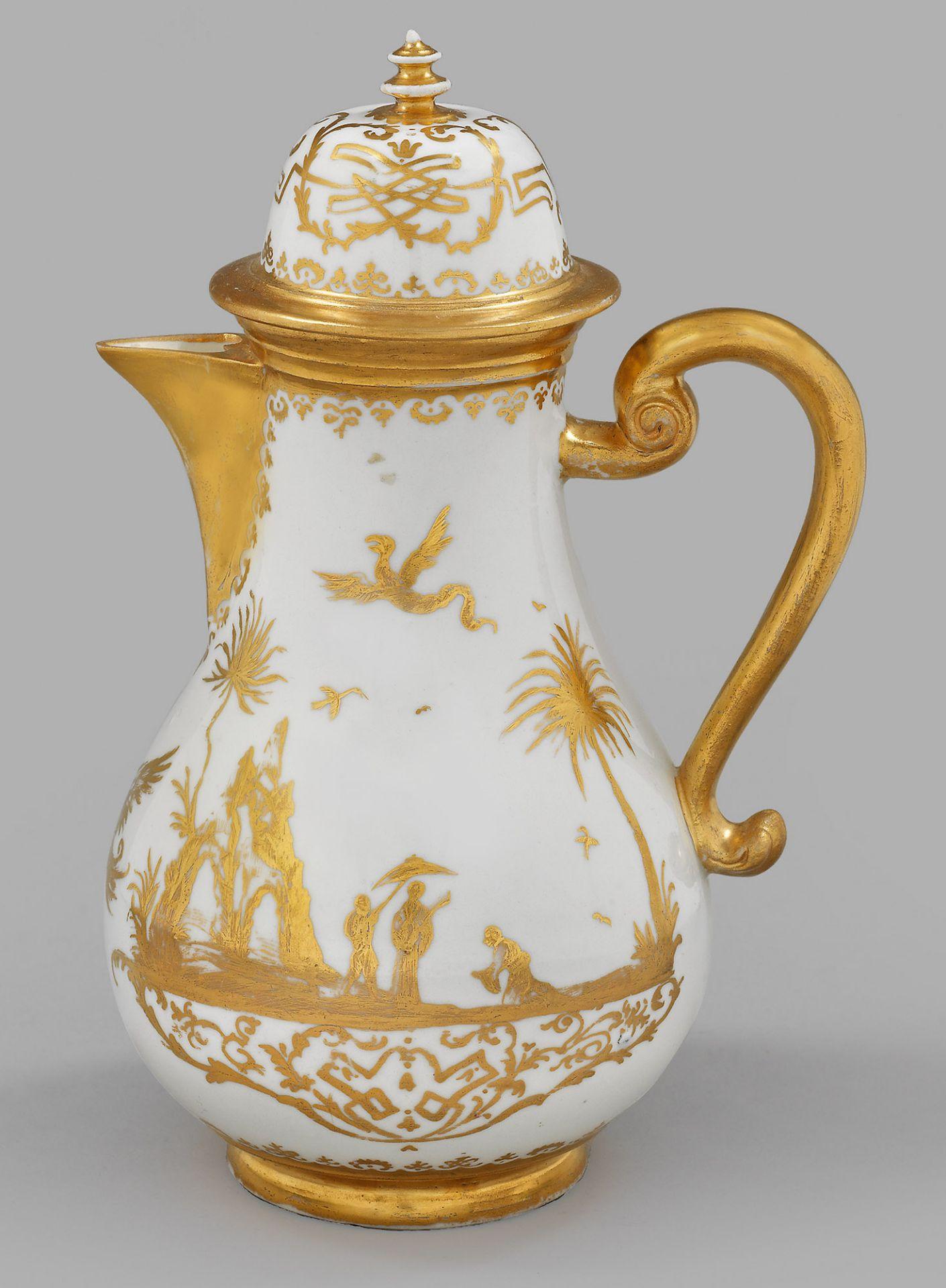 Kaffeekanne mit Augsburger Goldchinesen