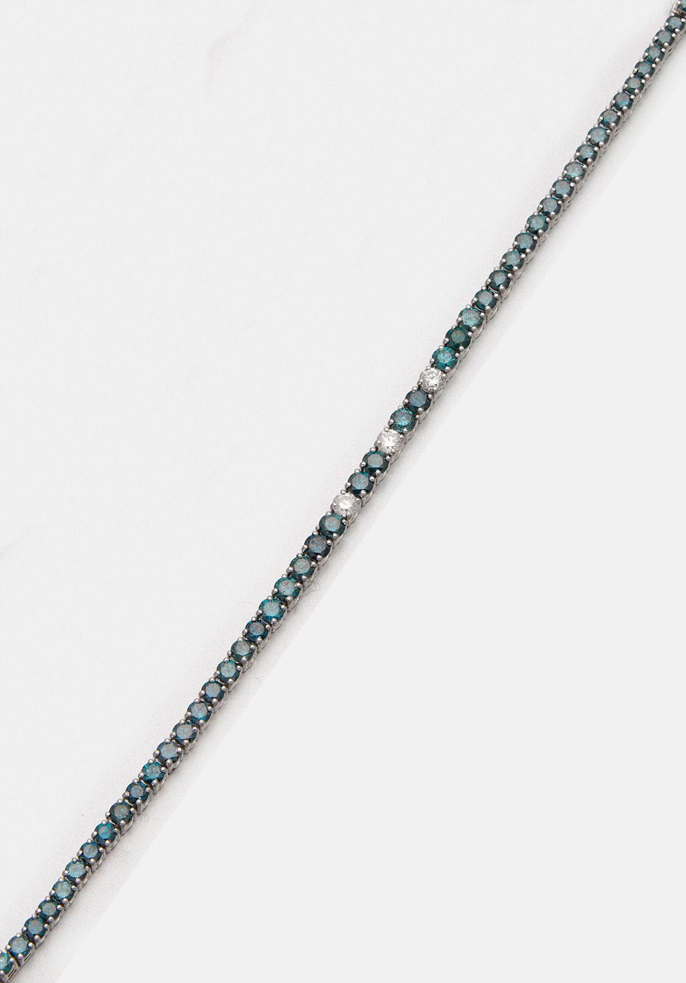 Feines Fancy-Diamant-Rivière-Armband