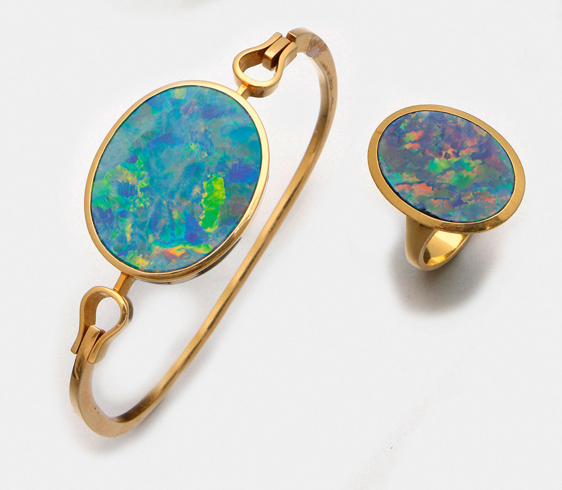 Opal-Demi Parure aus den 70er Jahren